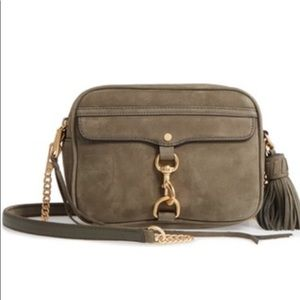 Rebecca Minkoff Large MAB Camera Bag (Olive Suede)